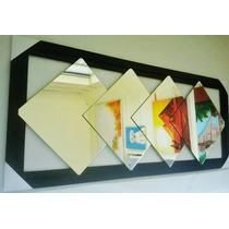 Espelho Grande 135x55cm Decorado C4peças 35x35- Ferte Grátis