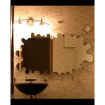 Banheiro Splash 60x30cm Acrílico Decorativo Espelhado