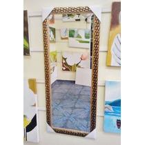 Espelho Grande 120x50cm C/ Moldura - Frete Gratis