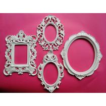 Kit 4 Molduras Com Espelho