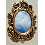 Espelho Veneziano Rococó Com Moldura Em Resina Ouro Velho