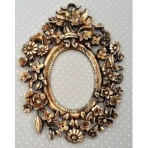 Espelho Floral Diversas Cores Moldura Em Resina
