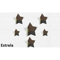 Espelhos Decorativos Acrílico Kit 6 Unidades Estrela