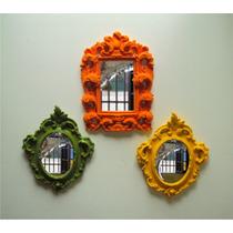 Trio Espelho De Parede, Decorativos, Com 03 Peças.