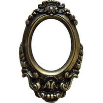 Porta Retrato Moldura Oval Colorida, Com Suporte, Em Resina.