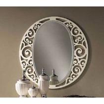 Moldura Provençal Mdf P/ Espelho, Decoração Grande 80x80cm