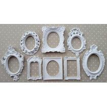 Kit 8 Espelhos / Molduras Estilo Branco Provençal