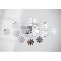 Kit Flores 10 Peças Espelho Decorativo Acrílico