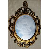Espelho Veneziano Ouro Velho / Moldura Em Resina 80 X 60