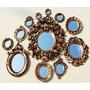 Composição Com 12 Espelhos Ou Molduras Vintage Ouro Velho
