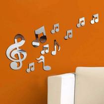 Cifras Notas Musicais Kit Com 10 Acrílico Espelhado