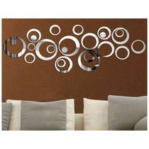 24 Espelhos Decorativos Prata D Design Moderno 3d Pra Parede