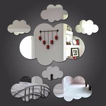 Kit Com 6 Espelhos Decorativos - Nuvem