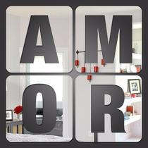 Espelho Decorativo Casa Quarto Sala Amor Frete Gratis Brasil