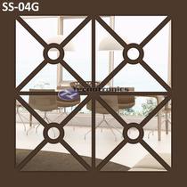 Espelho Decorativo Acrílico 0,62m X 0,62m Sala Quarto Grande
