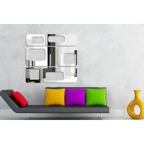 Conjuntos Espelhos Decorativos Grandes 1x1m Quarto Sala