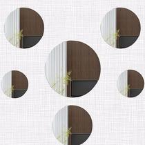 Kit Com 6 Espelhos Decorativos Casa Quarto Sala - Círculos