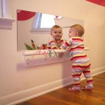 Espelho Acrílico Grande Quarto Bebê Montessoriano 100x50cm