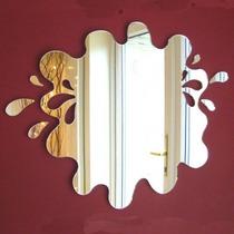 Espelho Decorativo De Banheiro Splash Acrílico 35cm