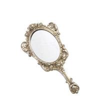 Espelho De Mão Rústico De Resina *g12074