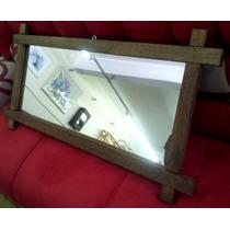 Moldura Rústica Maciça Com Espelho ( Madeira , Armação )
