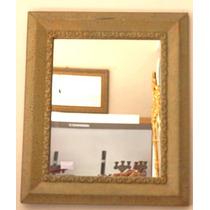 Espelho Antigo Moldura Rustica Detalhes Unicos