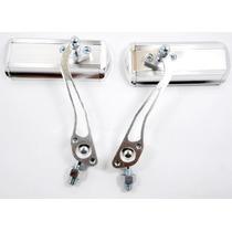 Retrovisor Aluminio Custom Universal Cromado