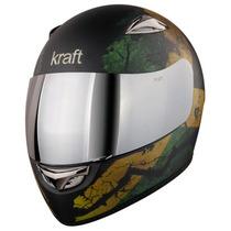 Capacete Kraft Full Face Jamaica Fosco * Moto Zero *