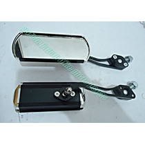 Retrovisor Preto Aluminio Custom Shadow Rosca 10mm