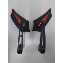 Retrovisor Adaga Mini Sport Haste Aluminio Sl7008 Vermelho