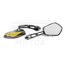 Espelho Retrovisor Mini Tubarão Dourado Nx 200 Crf 250l