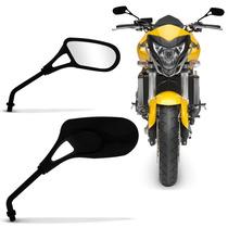 Retrovisor Moto Pro Tork Honda Universal Preto Modelo Vazado