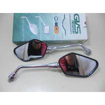 Retrovisor Cb 300 Mini Cromado Lente Convexa Gvs Cod 3767