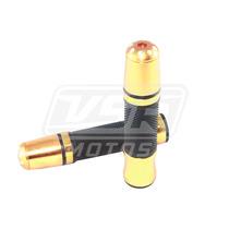 Manopla Esportiva Moto Dourada Longa + Peso Honda Twister