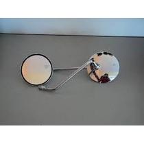 Espelho Cg 125 Redondo Cromado Par ( Zap )