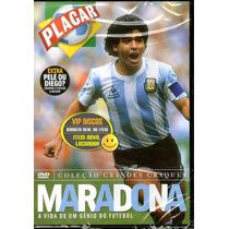 Dvd Maradona Coleção Grandes Craques Placar - Novo Lacrado