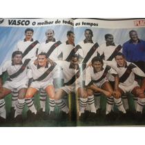 Poster Vasco Melhor Time Todos Os Tempos Placar 42 X 27cm