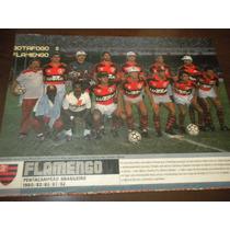 Poster Flamengo Penta Campeão Brasileiro 1992 21x27 Cm Placa