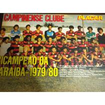 Poster Campinense Campeão Paraíba 1980 Placar 21x27 Cm