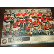 Poster Atlético Paranaense Campeão 1982 21x27 Cm Placar