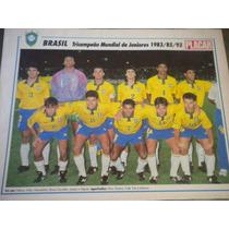 Poster Seleção Brasileira Tri Mundial Juniores 1993 21x27 Cm