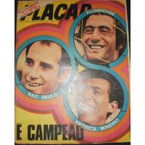 Placar - Fluminense Campeão Carioca De 1971 Com Poster