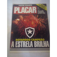 Revista Poster Placar Botafogo Campeão Carioca 1989
