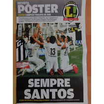 Poster Lance Santos Fc Campeao Paulista 2015