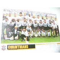 Poster Corinthians Campeão Paulista 2001 Placar Frete Gratis