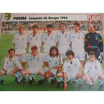 Poster Parma Itália Campeão Recopa 1993 21 X 27 Cm