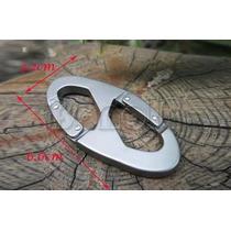 Frete9,90 Chaveiro Aluminio Mosquetão Pressão Gancho 100 Kg