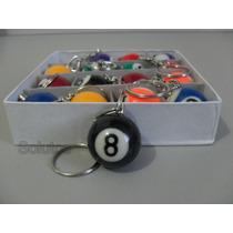 Chaveiro Bola De Bilhar Numerada - Caixa Com 16 Chaveiros