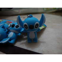 Chaveiros Lilo Stitch Azul Disney Led Som Com Baterias Novo