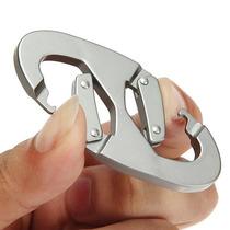 Chaveiro Aluminio Mosquetão Pressão Gancho 100 Kg